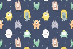 Is your little one a fan of monsters, aliens and all sorts of imaginative creatures? Then you and your child will adore our irresistible Little Monsters Wallpaper Mural. This design features a colourful variety of cute and friendly illustrated monsters on a faded deep blue background that resembles outer-space. The soft colours and uniformly sized...  Read more