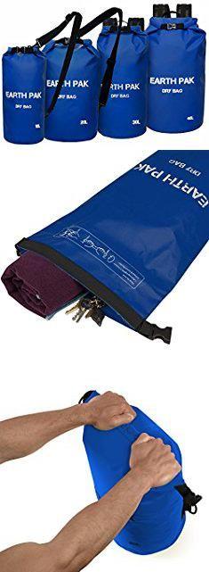 Waterproof Bags For Kayaking. Earth Pak -Waterproof Dry Bag - Roll Top Dry Compression Sack Keeps Gear Dry for Kayaking, Beach, Rafting, Boating, Hiking, Camping and Fishing with Waterproof Phone Case.  #waterproof #bags #for #kayaking #waterproofbags #bagsfor #forkayaking