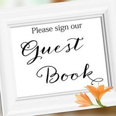 Wedding Sign Signage Decoration  Guest Book  by weddingfusion, $5.00