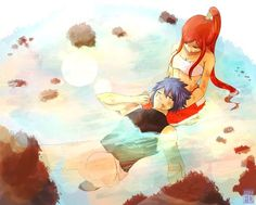 Anime and fairy tail erza scarlet, love fairy, jellal and erza, rave master Fairy Tail 2, Fairy Tail Jellal, Fairy Tail Erza Scarlet, Image Fairy Tail, Fairy Tail Comics, Fairy Tail Family, Fairy Tail Couples, Fairy Tail Ships, Fairy Tail Anime