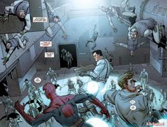 Fighting the Sinister Six in space in Amazing Spider-Man #680