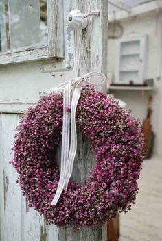 DIY | Herfst | krans van heide | decoratief | how to | recycle | tips | creatief