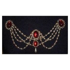 Bodice renaissance jewelry - Red