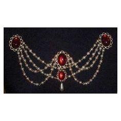 Bodice renaissance jewelry - Red