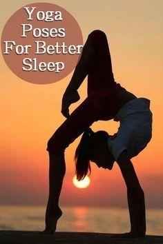 8 Yoga Poses For Better Sleep!!  They honestly work everytime! :)  #yoga #fitness #sleepbetter #yogapose