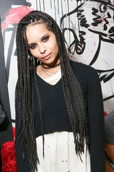 Zoe Kravitz looks more like her dad Lenny than her mom Lisa, to me