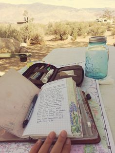 Taking a moment to capture some of our journey on paper. I made a special notebook just gor this trip. #poobirdraritiesbook #midori #travelersnotebook#writemore #journal #camping #quiettime by...