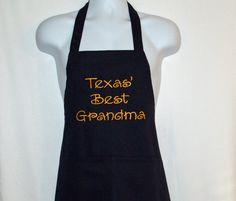 Texas Grandma Apron Custom Any State by AGiftToTreasure on Etsy