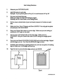 Mat Cutting instructions handout for students