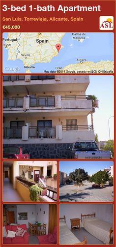 3-bed 1-bath Apartment in San Luis, Torrevieja, Alicante, Spain ►€45,000 #PropertyForSaleInSpain