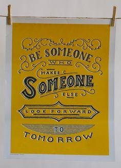 Ναι είσαι αυτός που θα κανει τον άλλον να περιμένει το αύριο με ανοιπομονισια
