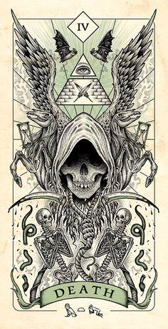Four Horsemen of Apocalypse Tarot Cards Artwork Released in Higher Quality. – X-Men Films Arte Horror, Horror Art, La Muerte Tattoo, Apocalypse Art, Satanic Art, Satanic Tattoos, Arte Obscura, Occult Art, Gothic Art