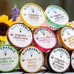 Blue marble organic ice cream custom 6 pack