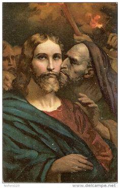 """Malerei & Gemälde - """"The kiss of Judas"""" Fine art Stengel PC # 29446, Ary Scheffer"""