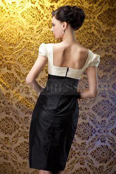 Attractive Sheath/Column Square Neckline Knee-Length Polinas Mother of the Bride Dress