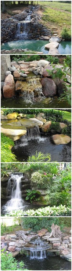Learn how to build a garden waterfall pond. And to get you started, here are some great designs to get you inspired