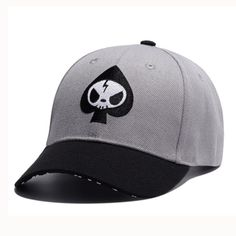 Grey Flat Embroidery 6 Pannels Baseball Cap Caps For Men 83f662fd9eed