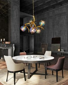The new Ersa additions is fallen on fertile grounds. A huge wedding hall in India and a private residence high up in the Swiss mountains are some of the locations currently using this Ersa chandelier. Can you imagine this chandelier in your interior? Visit our website for more information! Dining Table Pendant Light, Modern Dining Room Lighting, Dining Room Ceiling Lights, Dining Room Images, Chandelier In Living Room, Modern Dining Table, Room Lights, Modern Room, Modern Lighting