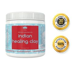 PURE INDIAN HEALING BENTONITE CLAY - USE AS A DETOX CLEANSE, A DIY PURIFYING HAIR OR FACIAL MASK, AS A NATURAL ECZEMA, DERMATITIS OR PSORIASIS TREATMENT & MORE...