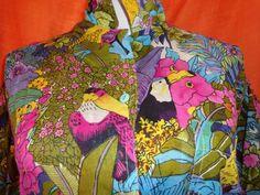 Vintage Blusen - Bluse*Vintage*Sommer*Frühling*lässig*Papagei* - ein Designerstück von SweetSweetVintage bei DaWanda