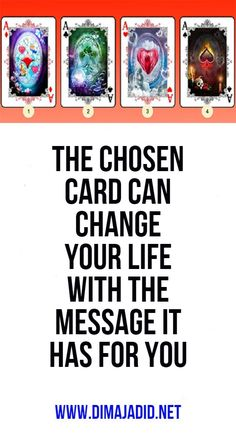 The chosen card can change your life with the message it has for you Psychic Abilities Test, Whatsapp Pictures, Do Not Be Afraid, You Choose, You Tried, Your Life, You Changed, Personality, How Are You Feeling
