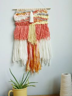 Woven Wall Hanging Hanging Wall Decor Weave by ROVINGTEXTILES