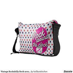 Vintage Rockabilly Rock around the clock dice bag