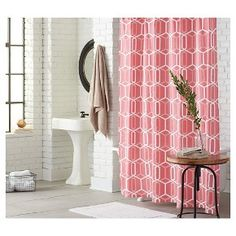 Shower Curtain Coral Geo - Threshold™ : Target