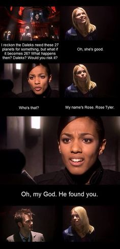 I love this scene. If there is anyone who knows how important Rose is to the Doctor, it's Martha Jones.