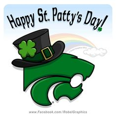 St. Patrick's Day K-State Powercat posted on my Robel Graphics Facebook page.
