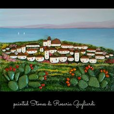 Pebble Painting, Pebble Art, Stone Painting, Pebble Pictures, Stone Pictures, Stone Cactus, Art Pierre, Nautical Theme Decor, House On The Rock