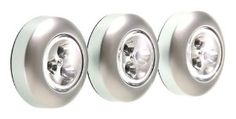 Amazon.com: Fulcrum 30010-301 LED Battery-Operated Stick-On Tap Light, Silver, 3 Pack: Home Improvement