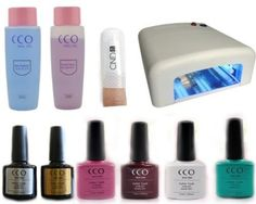 CCO UV NAIL GEL kit.  Think this would save me ££ over time plus I'd always have amazing manicures