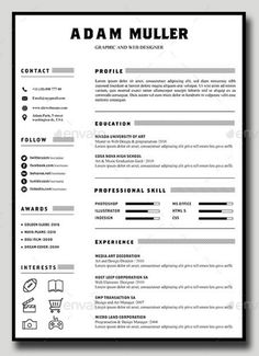 Google Templates Resume Simple Visual Resume  Google Search  Job Search  Pinterest