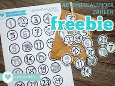 creaktiv: freebie ♥ Adventskalenderzahlen ♥ free printable