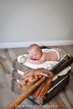 Someday we can do this with the same bat and glove we used in our engagement pictures! I will also have to get a baseball and place our childs birthdate on it!
