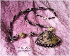 """""""Even Rhodonite is for Luck"""" necklace by Likra"""