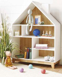 zara home house shelf Zara Home Kids, House Shelves, Bookshelves Kids, Kids Decor, Home Decor, Little Girl Rooms, Baby Room Decor, Baby Room Art, Kids Furniture
