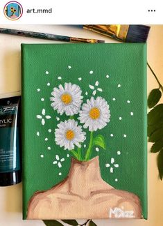 aesthetic painting aesthetic painting, To obtain you started, we've compiled these list DIY canvas painting ideas. Easy Canvas Art, Simple Canvas Paintings, Small Canvas Art, Cute Paintings, Mini Canvas Art, Acrylic Painting Canvas, Canvas Ideas, Small Art, Diy Canvas
