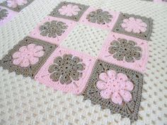 Crochet Pattern Easton Baby Afghan Pattern by PeachtreeCottage