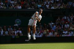 Bautista Agut is back on his feet after an earlier fall, but Federer is showing no mercy - the Swiss leads 6-2, 4-2 Wimbledon
