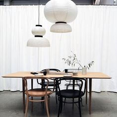 Full size dining room table | now in our showroom #askogeng #bamboo #sustainabledesign