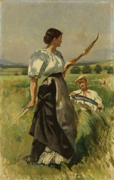 Frank Buchser - Mower and Harvester