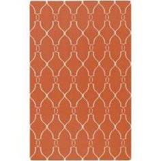 @Overstock - Hand woven in 100 wool, this rug features a flat pile and is reversible. Colors of ivory and paprika accent this area rug.http://www.overstock.com/Home-Garden/Jill-Rosenwald-Hand-Woven-Farr-Wool-Rug-8-x-11/6441116/product.html?CID=214117 Add to cart to see special price