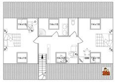 Plan maison combles 2 chambres plan maison pinterest bbc for Plan de comble amenageable