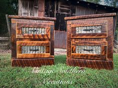 Rustic Farmhouse Furniture, Barnwood Ideas, Wood Nightstand, Barn Wood, Liquor Cabinet, Southern, Vintage, Home Decor, Decoration Home