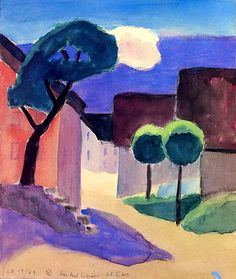 Murnau Burggraben. Gabrielle Münter (1877-1962) was a German expressionist painter who was at the forefront of the Munich avant-garde in the early 20th century. Artists and writers associated with German Expressionism shared a rebellious attitude (influenced by the writings of Friedrich Nietzsche) toward the materialism and mores of German imperial and bourgeois society. German Expressionistic art was an exegetic reaction against the ambiguities and formalism of pre-World War I society.