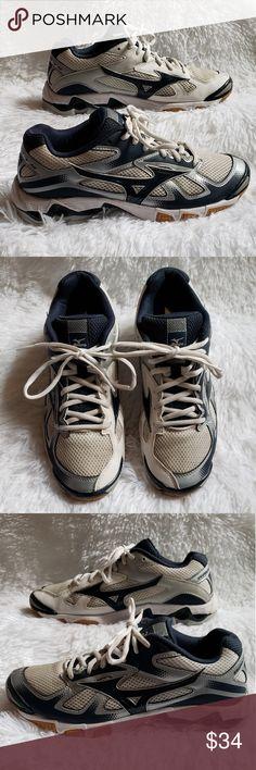 mizuno womens volleyball shoes size 8 x 1 jersey navy en valencia