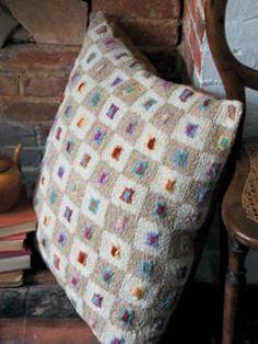 Mini Squares Cushion, designed by Kaffe Fassett [free pattern from Rowan when you register]
