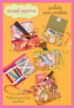 Sweet Seams Wallets & Wristlets Patterns by SweetSeamsPatterns